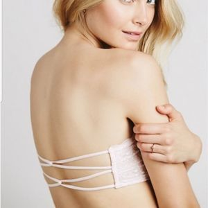 Free People Bandeau Lace Strappy Light Pink